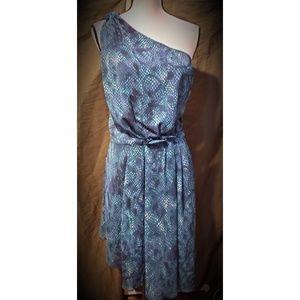 Rachel Rachel Roy Teal Print Dress 14